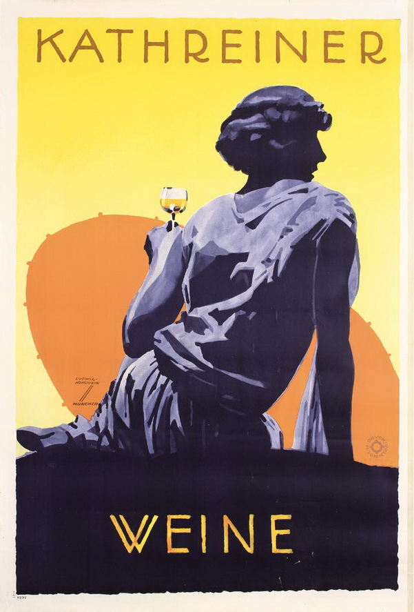 Austrian wine ad,1920s