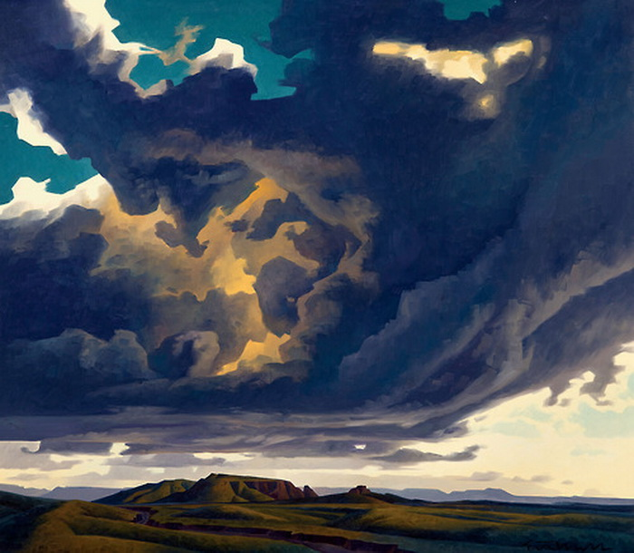 Painting by Ed Mell
