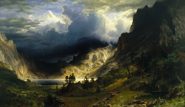 """A Storm in the Rocky Mountains"" by Albert Bierstadt, 1866"