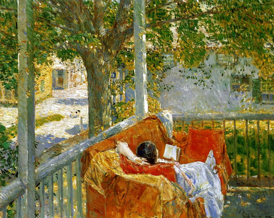 Painting by ChildeHassam