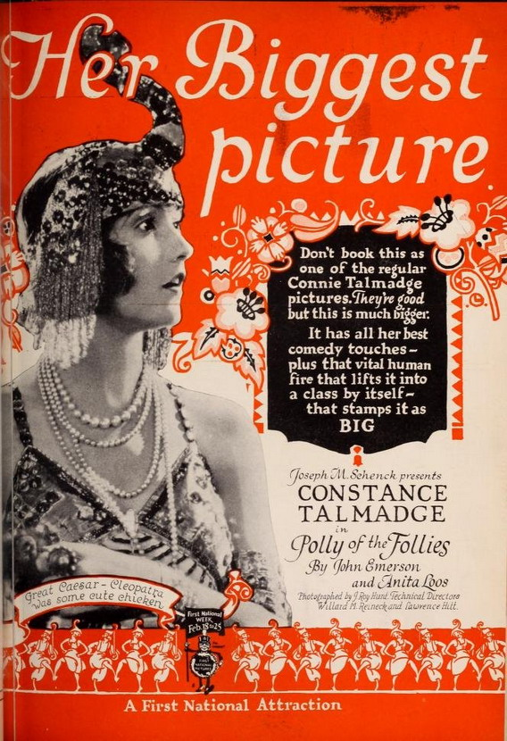 """Constance Talmadge in """"Polly of theFollies"""""""
