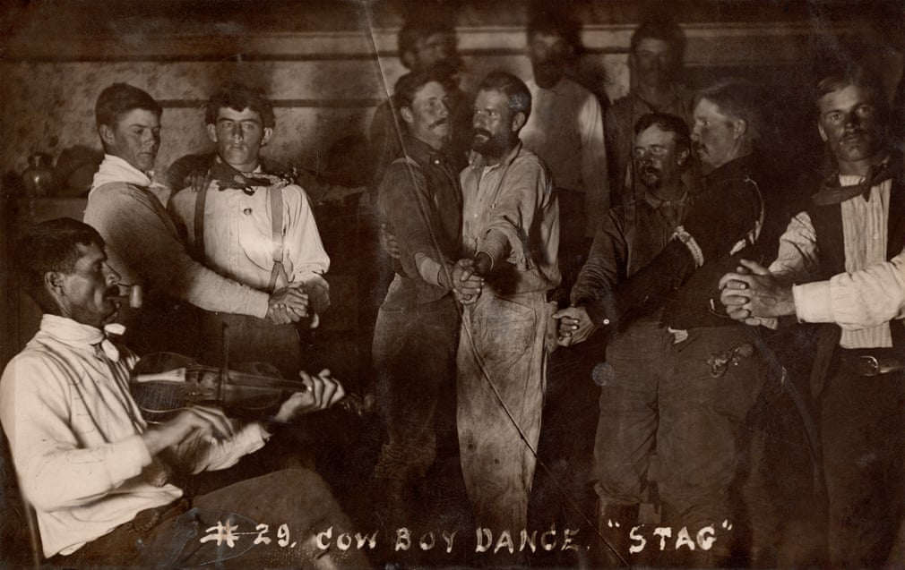 """Cowboy """"Stag"""" Dance, 1800s (because there were so few women in the Wild West in thosedays)"""