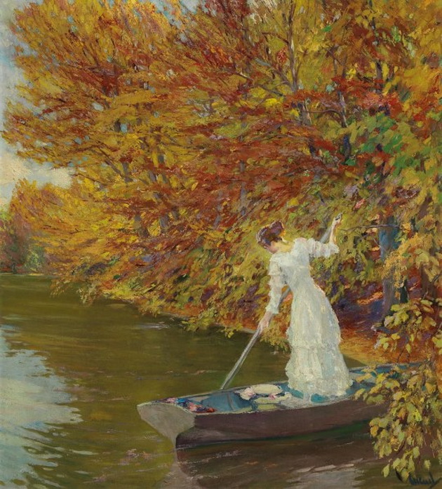 Painting by Edward Cucuel