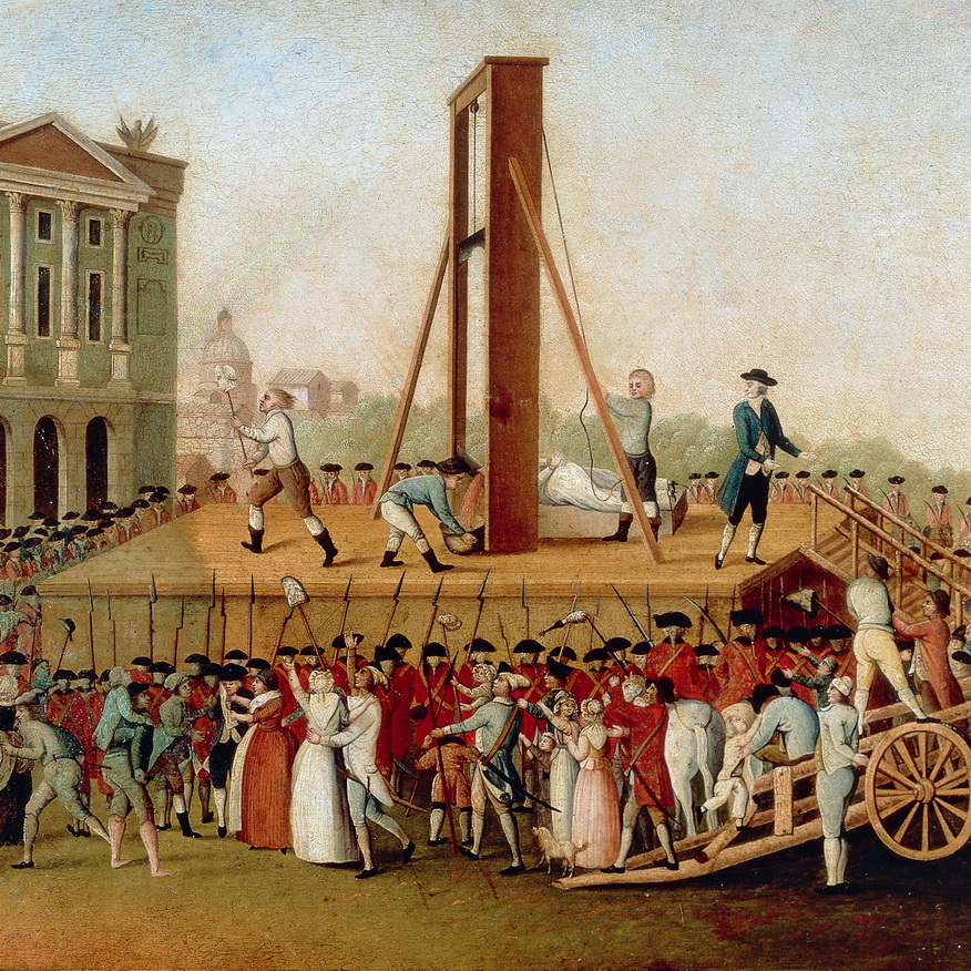 Execution of King Louis XVI during the French Revolution, 1793