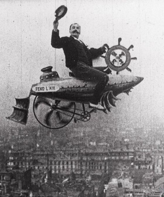 Flying above Paris, 1890s