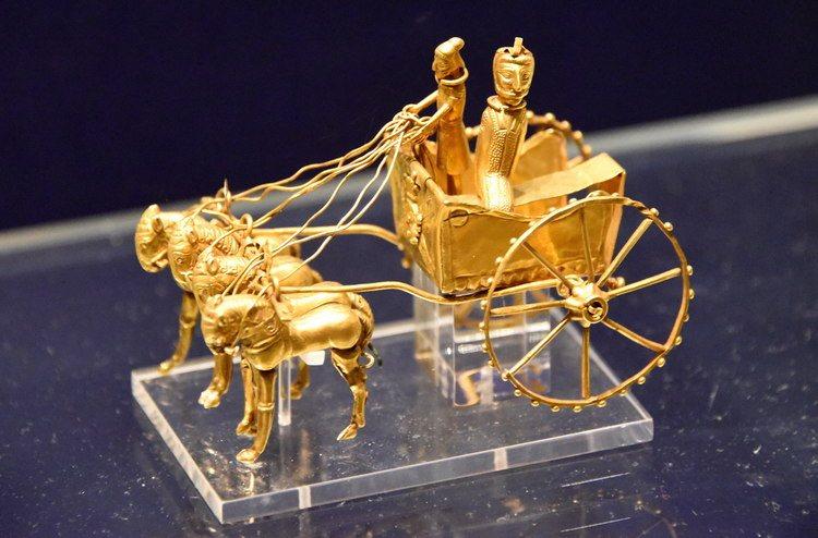Ancient gold chariot,Tajikistan