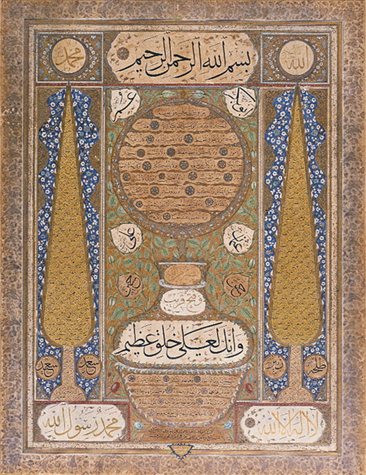 Description of Mohammed  (since pictures are not allowed), Ottoman Empire,1700s