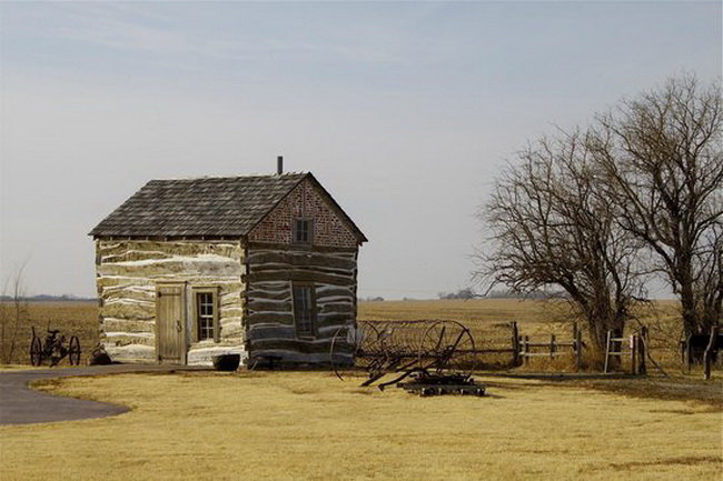 Old homestead from the pioneer days (1800s), Nebraska