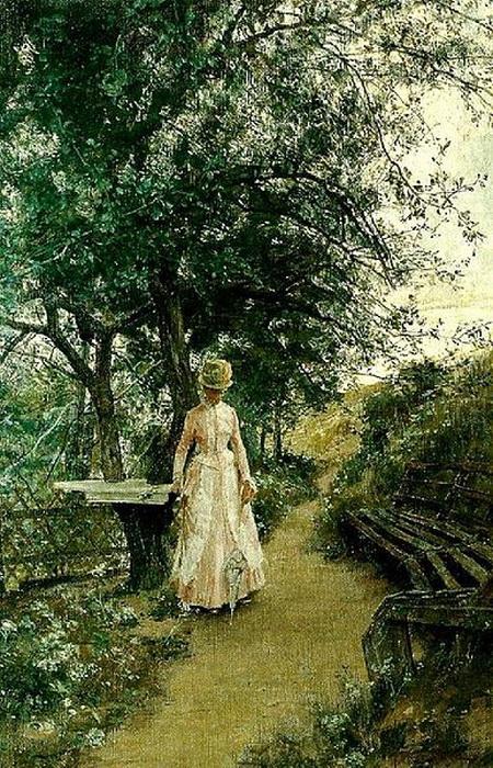 Painting by Swedish artist Johan Krouthén, circa1890