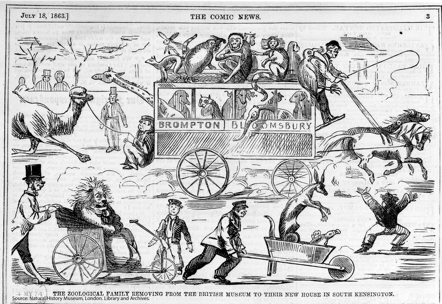 Moving the London Zoo, 1863