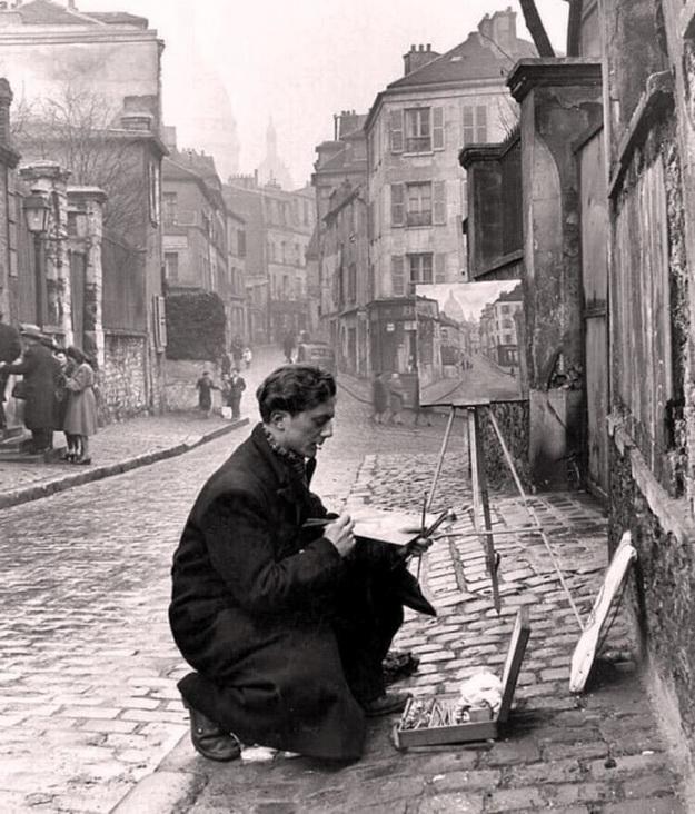 Artist, Paris, by Ed Clark,1946