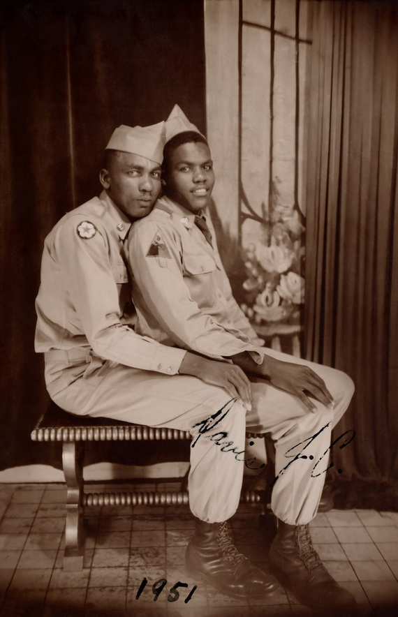 Soldiers together, 1951