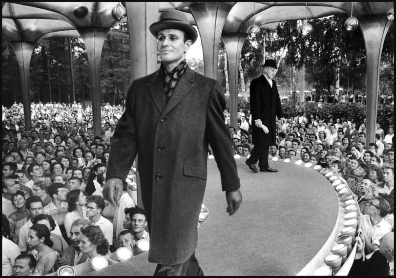 Soviet Men's fashion show,1950s