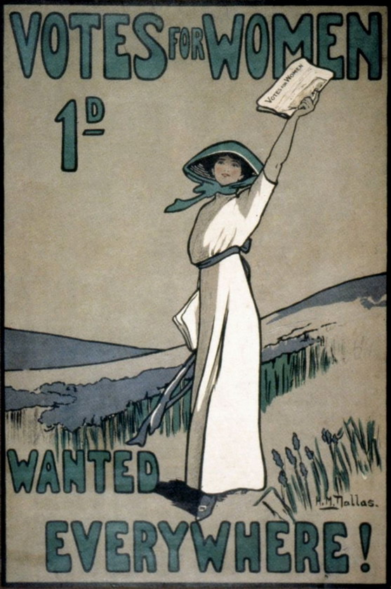 Campaign for women's right to vote, UK, 1910s