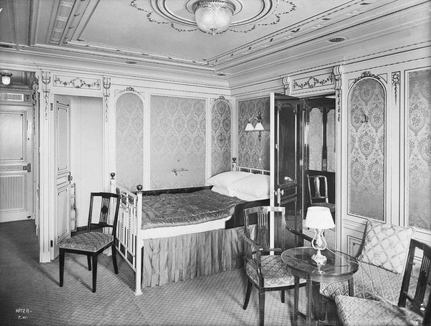 First class bedroom, RMS Titanic