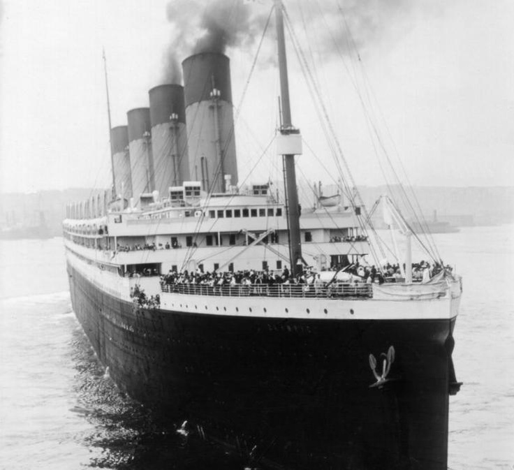 The Titanic departing on it's first/last voyage, 1912