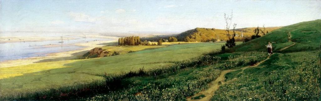 Ukrainian landscape by Vladimir Orlovsky,1800s