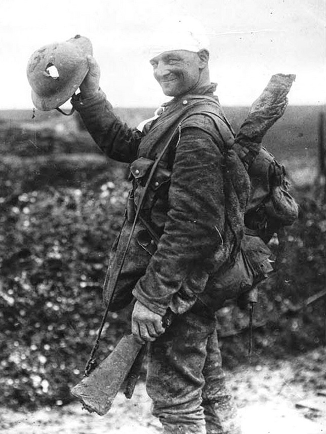 Lucky soldier, WWI