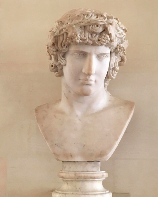 """Statue that's entitled """"Bacchus"""", by  Antoine-Henri Bertrand, but it looks like all the depictions ofAntinous"""