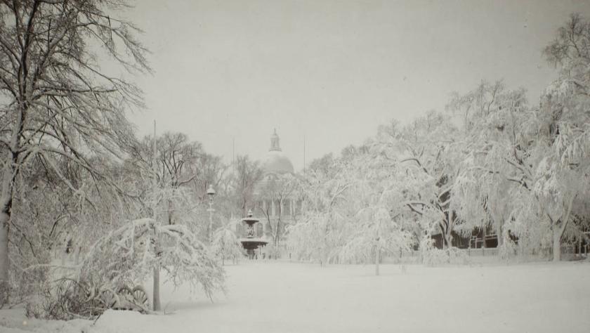 Snow storm, Boston,1880s