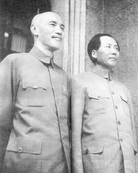 Chiang Kai-Shek and Mao Tse Tung, united during WWII
