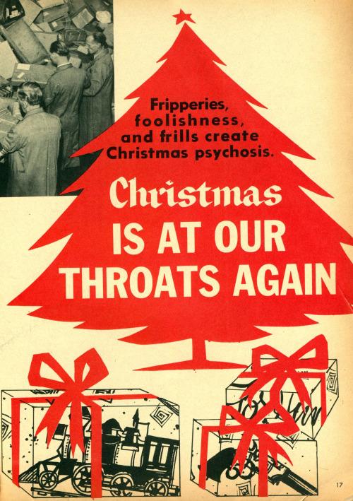 Christmas is at our throatsagain!