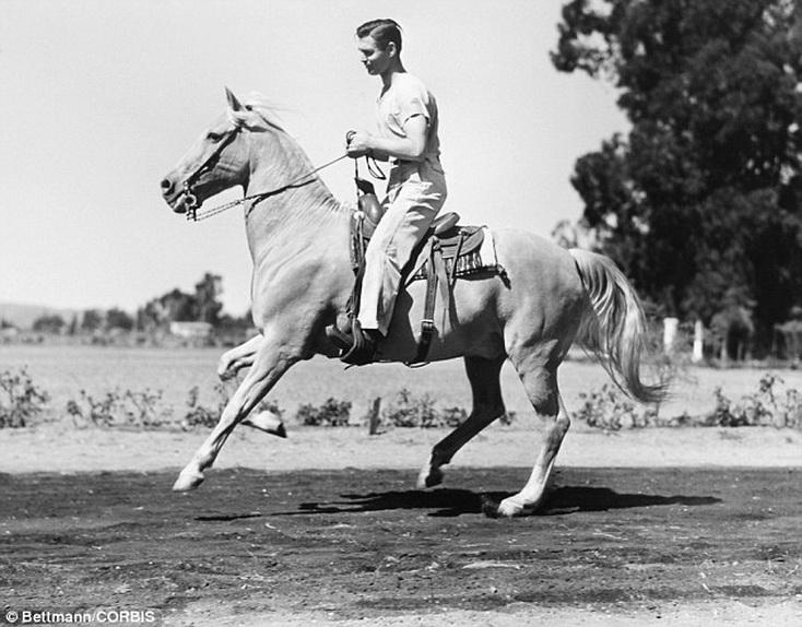 Clark Gable on ahorse