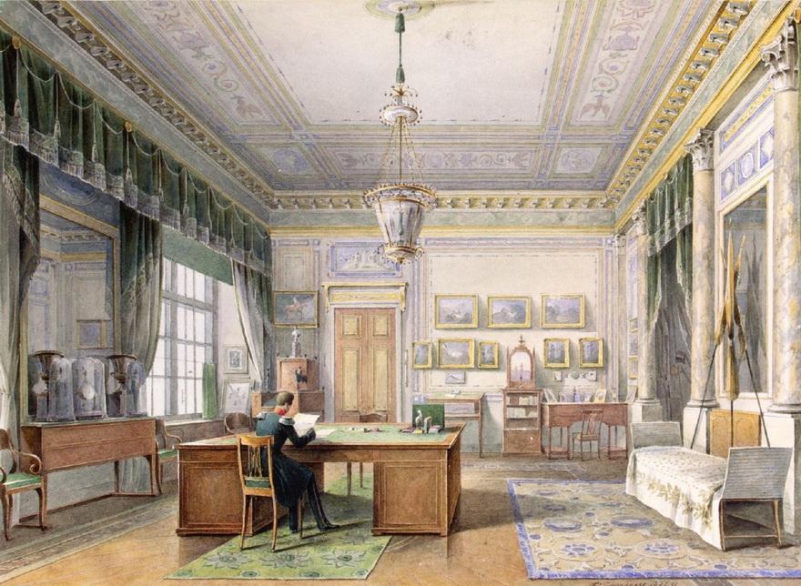 Emperor/Tsar Alexander II of Russia at work in hisstudy