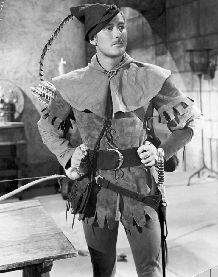 Errol Flynn as Robin Hood, 1930s