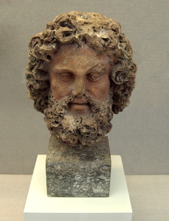 Ancient Etruscan bust,Italy
