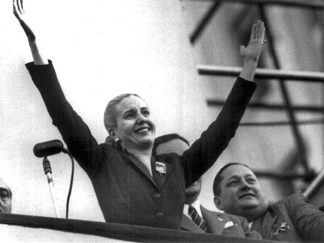 Eva Peron, known as Evita, shortly before her death in 1952
