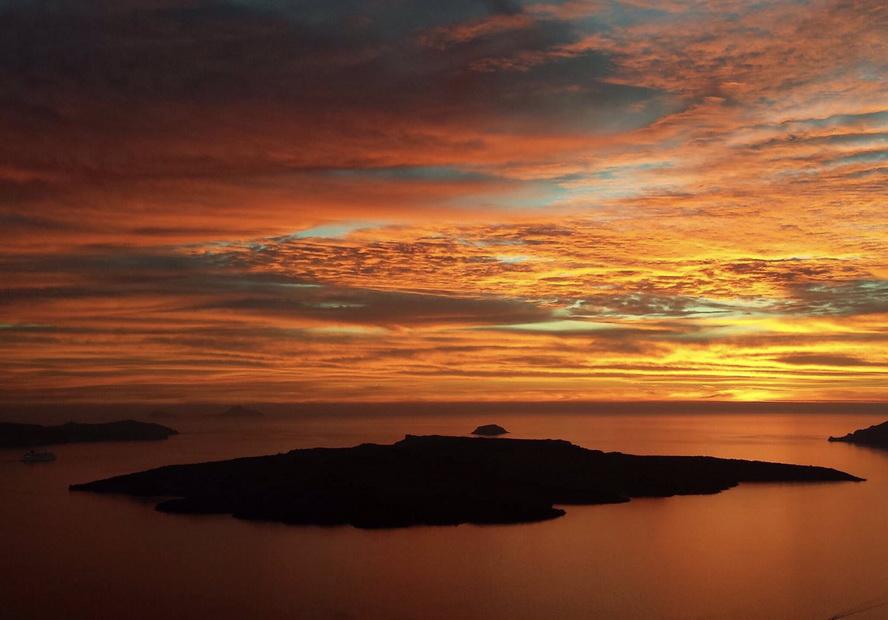 Sunset from Santorini,Greece