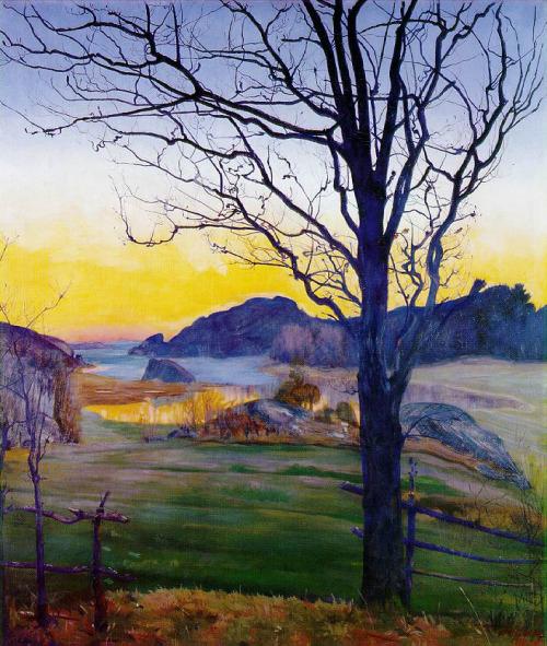 "Harald Oskar Sohlberg – ""Autumn Landscape"", 1910"