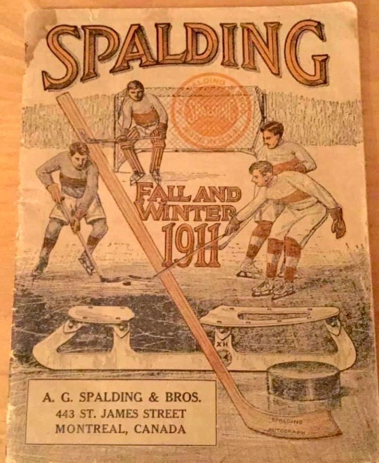 Spalding hockey equipment, Montréal,1911