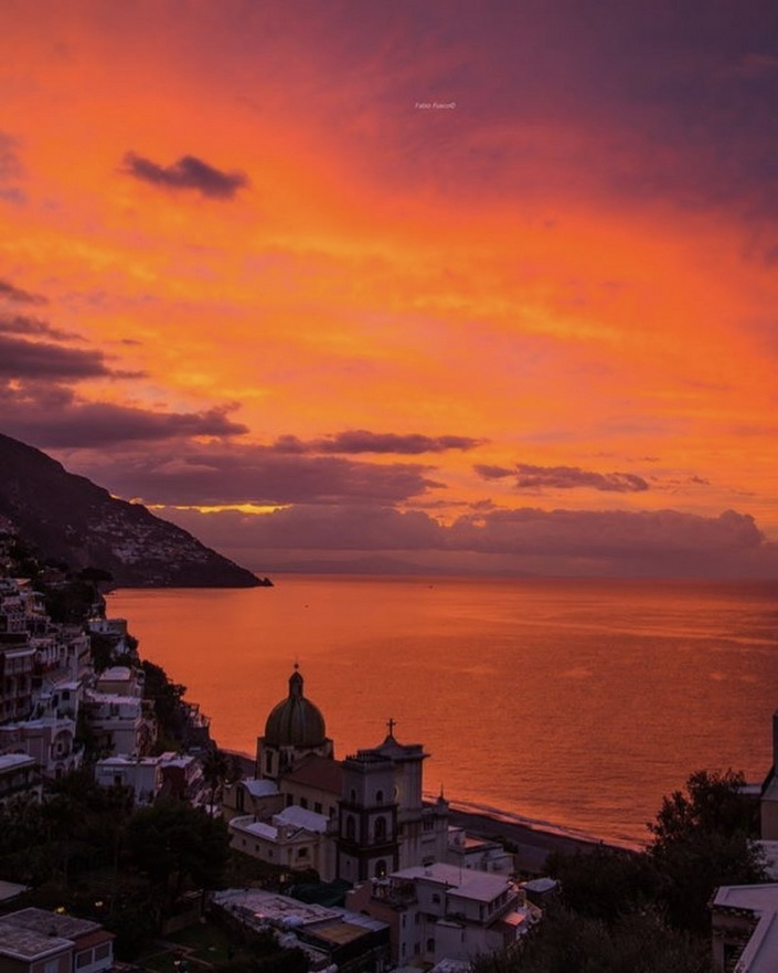 Sunset at Positano,Italy
