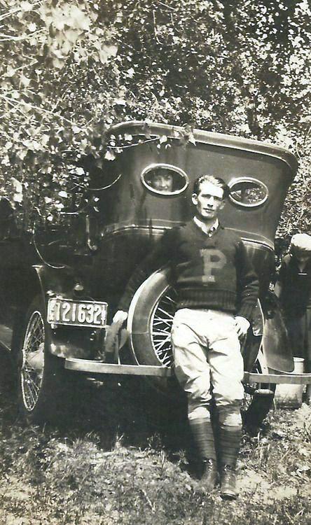 Vintage college man