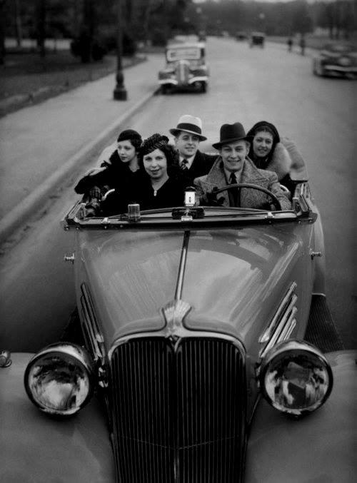 Going for a joy ride, Paris, by Robert Doisneau,1930s