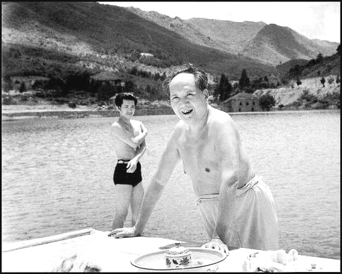 Chairman Mao, shirtless