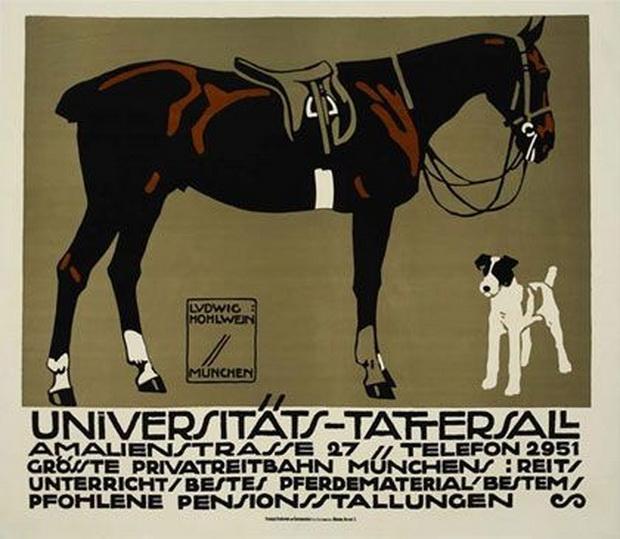 Horse by Ludwig Hohlwein, Munich/Munchen, Germany,1912