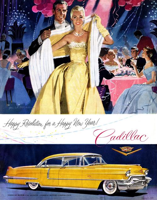 Happy New Year from Cadillac, circa1950