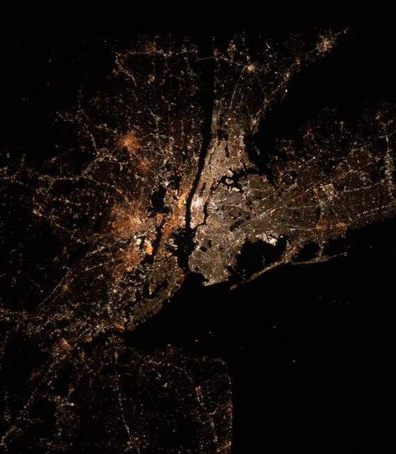 NYC from the International Space Station