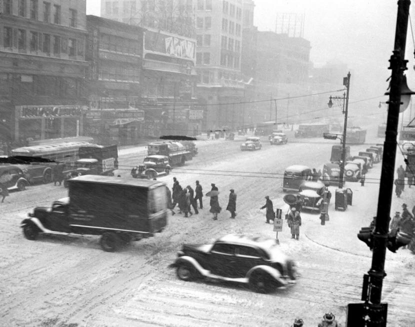 Snow storm, NYC,1940