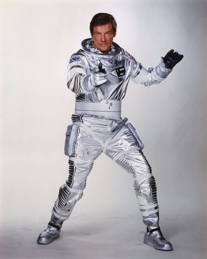 "Roger Moore as James Bond in ""Moonraker"", 1979"