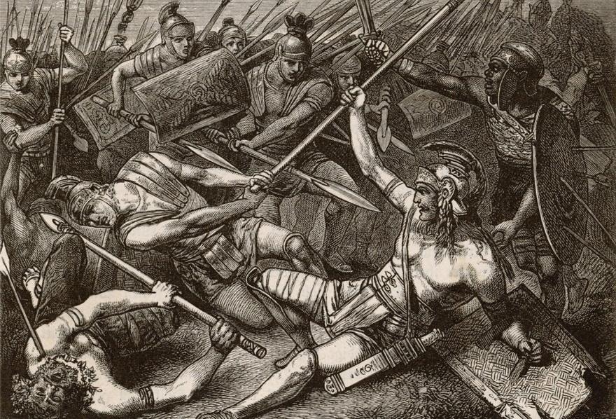 Spartacus in battle, by HermannVogel