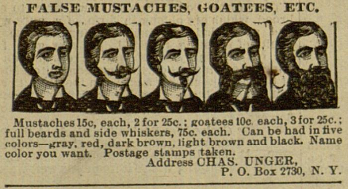 False mustaches, 15cents