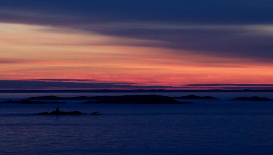 Winter sunset on the coast ofMaine
