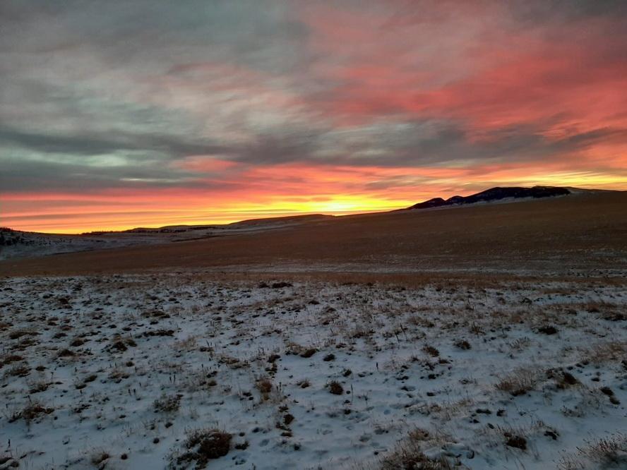 Western wilderness sunset