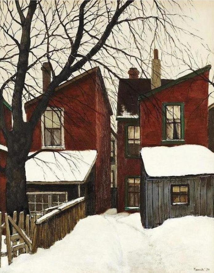 "Canadian art: ""Behind Spadina Ave."", Toronto, by Albert Franck,1970"