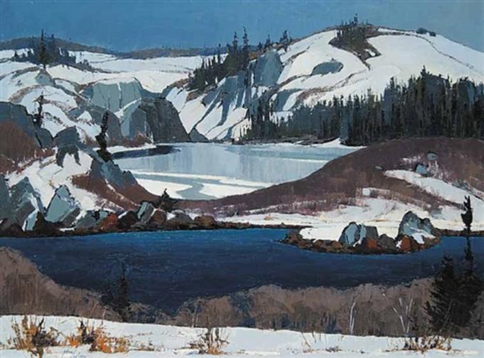Winter scene by a Canadianartist
