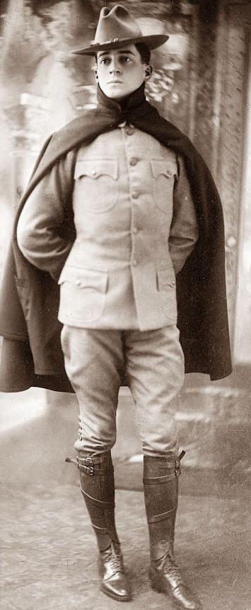 Douglas MacArthur (later the famous American general of WWII) working a cape, 1918